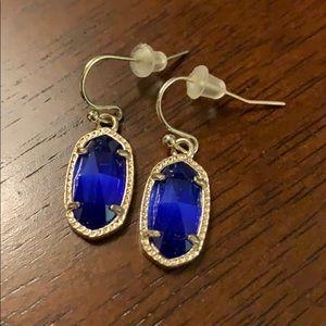 Kendra Scott Lee Gold & Cobalt Cat's Eye earrings